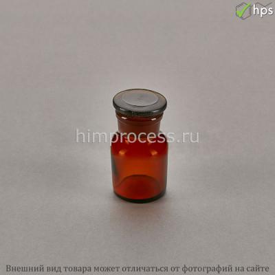 Склянка для реактивов с широкой горловиной из тёмного стекла